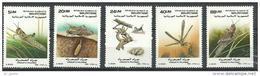 "Mauritanie YT 623 à 627 "" Criquet Pèlerin "" 1989 Neuf** - Mauritanie (1960-...)"