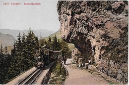 BRÜNIGBAHN → Dampfzug Bei Der Partie Schneidgütsch, Ca.1920 - OW Obwald