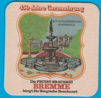 Privatbrauerei Carl Bremme Wuppertal ( Bd 2098 ) - Sous-bocks