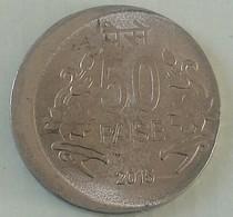 India Indein 50 Paisa Error Coin..2015 Kolkata Mint - India
