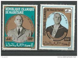 "Mauritanie YT 293 & 294 "" Gal De Gaulle "" 1971 Neuf** - Mauritanie (1960-...)"