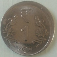 India Indein 1 Rupee Error Coin..2013 Hyderabad Mint - India