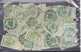 LOT  N° 56  : 100 Timbres Oblitérés - 1893-1907 Wapenschild