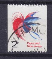 Papua New Guinea 1971 Mi. 202  5c. Bird Vogel Oiseau Raggis Grosser Paradisvogel 2-Sided Per. From Rollen - Papouasie-Nouvelle-Guinée
