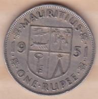ILE MAURICE / MAURITIUS . ONE RUPEE 1951 . GEORGE VI - Mauritius