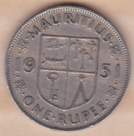ILE MAURICE / MAURITIUS . ONE RUPEE 1951 . GEORGE VI - Maurice