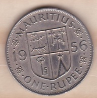 ILE MAURICE / MAURITIUS . ONE RUPEE 1956 . ELIZABETH II - Mauricio