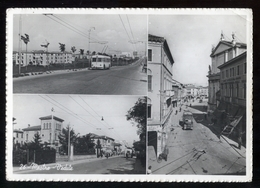 MESTRE - 1952 - 3 VEDUTE CON AUTOBUS E FILOBUS - Bus & Autocars
