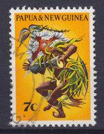 Papua New Guinea 1971 Mi. 211  7c. Eingeborene Tänzer Siaa-Tänzer Mit Kakadu-Kopfschmuck Dancer - Papua-Neuguinea