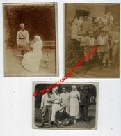 3 Photos-services De Santé Pendant La Guerre De 1914-blessés-photos Fines-2 Photos 9x12cm Et 1 Photo 10,8 X 7,8cm - Guerre, Militaire