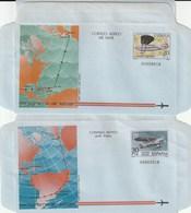 1982 España. Aerogramas (Edif.203/204)**  2v Avión Avion Plane - Enteros Postales