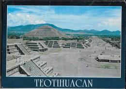 MEXICO - TEOTIHUACAN - VIAGGIATA  FRANCOBOLLO ASPORTATO - Messico