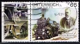Österreich 2011, Michel# 2916 Zf O Karl Goelsdorf's 150th Birthday - Centenary Of The 310 Class - 1945-.... 2ème République