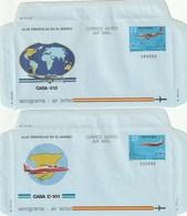1983 España. Aerogramas (Edif.205/206)** 2v Avión Avion Plane - Enteros Postales