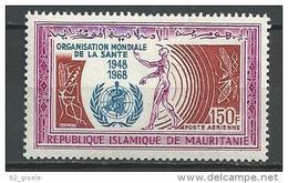 """Mauritanie Aerien YT 77 (PA) """" O. M. S. """" 1968 Neuf** - Mauritanie (1960-...)"""