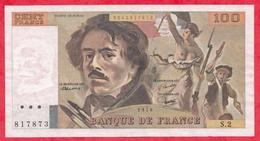 """100 Francs """"Delacroix"""" 1978 ---Fayette -F69 (01a)- Série S2 ALPH-peu Commun - -VP/SUP - 1962-1997 ''Francs''"""