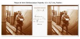 Photo Ancienne Originale Stéréoscopique - LAPON - A Bord De L'Île De France - Paquebot  -  Relief - 3D - STEREO - Plaques De Verre