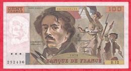 """100 Francs """"Delacroix"""" 1979 ---Fayette -F69 (02c)- Série -B12  - -VP/SUP - 1962-1997 ''Francs''"""