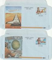 1984 España. Aerogramas (Edif.207/208)**  2v Avión Plane Avion - Enteros Postales