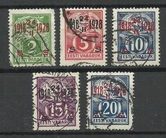 Estland Estonia 1928 Michel 68 - 72 O - Estonie