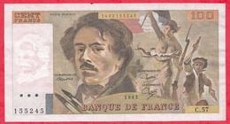 """100 Francs """"Delacroix"""" 1982 ---Fayette -F69 (06)- Série C.57  - -F/TTB+ - 1962-1997 ''Francs''"""