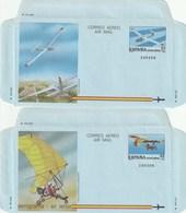 1985 España. Aerogramas (Edif.209/210)**   2v Avión Avion Plane - Enteros Postales