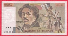 """100 Francs """"Delacroix"""" 1984 ---Fayette -F69 (08a)- Série R.75  - -VF/SUP - 1962-1997 ''Francs''"""