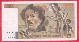 """100 Francs """"Delacroix"""" 1985 ---Fayette -F69 (09)- Série R.98  - -VF/SUP - 1962-1997 ''Francs''"""