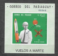 #B78A# PARAGUAY MICHEL BL 135 MNH** MUESTRA. SPACE. - Paraguay