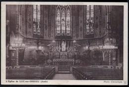 LUC-sur-ORBIEU L'Eglise CPA Ecrite Mais Dos Divisé TBE - France