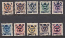 Sweden 1918 - Michel 115-124 Used - Sweden
