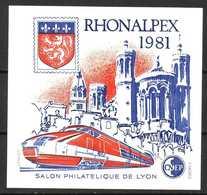 France . Bloc CNEP N° 2 RHONALPEX . Non Dentelé - CNEP