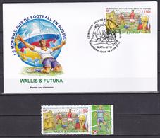 Wallis Et Futuna 2018 Coupe Du Monde De Football Football World Cup Russia  FDC + Stamp RARE Luxe - Coupe Du Monde