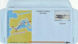 1989 España. Aerograma (Edif.214)**  1v Avión Avion Plane - Enteros Postales
