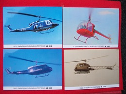 4 CARTOLINE ELICOTTERO AGUSTA A 115,A 104,AB 212,AB205 - Elicotteri