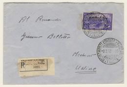 Risorgimento Lire 50 Isolato Su Lettera Raccomandata  (vedi Descrizione) 2 Immagini - 7. Trieste