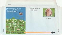 1987 España. Aerograma (Edif.212)**   1v  Prerromámico Asturiano - Enteros Postales