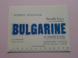 BULGARINE ( +/- 10,5 X 13,5 Cm. ) Lab. Thépénier Paris / Buvard ( Voir Photo ) ! - Produits Pharmaceutiques