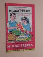 MILLIAT Frères ( +/- 10,5 X 17,5 Cm. ) Buvard ( Voir Photo ) ! - M
