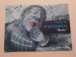 """Sirop De PANTOPON """" Roche """" ( +/- 13 X 18 Cm. ) Buvard ( Voir Photo ) ! - Produits Pharmaceutiques"""