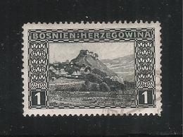 BOSNIA ERZEGOVINA - 1906 - VALORE USATO DA 1 H. VEDUTA DI DOBOJ. - IN BUONE CONDIZIONI. - Bosnia Erzegovina