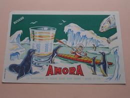 AMORA Moutarde ( +/- 13,5 X 21 Cm. ) Buvard ( Voir Photo ) ! - Moutardes
