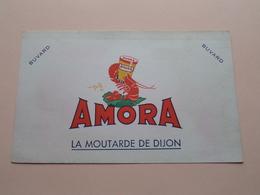 AMORA Moutarde ( +/- 12 X 20 Cm. ) Buvard ( Voir Photo ) ! - Moutardes