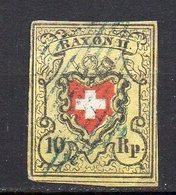 1850 Svizzera Poste Federali Unificato N.15  10r  Timbrato Used - 1843-1852 Poste Federali E Cantonali