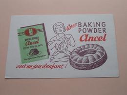 ANCEL Baking Powder ( +/- 12 X 20 Cm. ) Buvard ( Voir Photo ) ! - Buvards, Protège-cahiers Illustrés