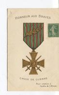 Cpa - Militaria - Gloire A Nos Héros - Croix De Guerre - Pour Citation A L'ordre De L'Armée - Militari
