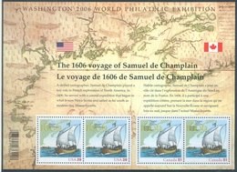 CANADA  - MNH/*** LUXE - 2006 - COMMON ISSUE WITH USA  SAMUEL DE CHAMPLAIN - Yv BLOC 85 - Lot 18508 - Blocs-feuillets