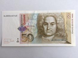 50 DM Deutsche Mark, Kassenfrische Erhaltung - 1949-…: BRD