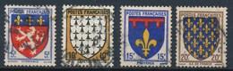 France-Blasons De Provinces YT 572-575 Obl - France