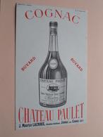 COGNAC Chateau PAULET ( +/- 12,5 X 21 Cm. ) Buvard ( Voir Photo ) ! - Carte Assorbenti